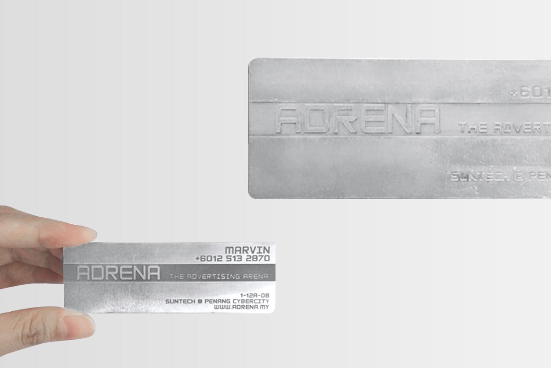 Aluminium Plate Business Card