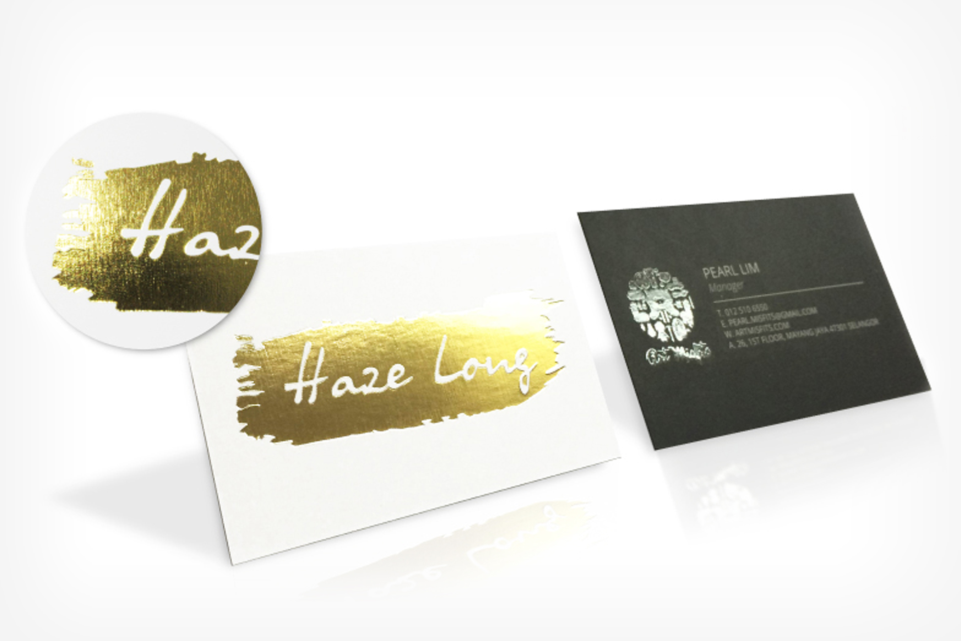 Gold Hot Stamping Business Card